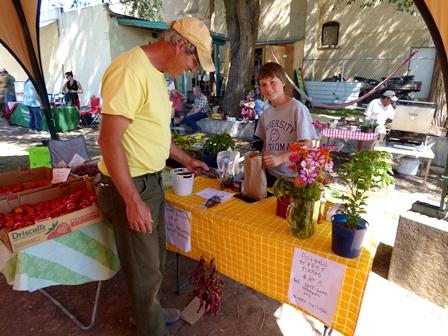 Hotchkiss K8 School Garden Booth at Tomato Festival