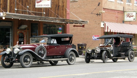 Vintage Rolls Royce Tour through downtown Hotchkiss